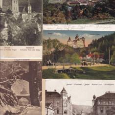BRASOV, LOT 5 CARTI POSTALE, PERIOADA INTERBELICA, Ambele, Printata, Romania 1900 - 1950