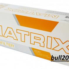 Tuburi MATRIX GALBEN CU CARBON ACTIV 200 tuburi tigari filtre tigari - Foite tigari