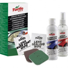 Kit polish restaurare far faruri din plastic Turtle Wax 240 ml