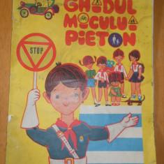 GHIDUL MICULUI PIETON - 1969 FORMAT A4 - CONTINE BENZI DESENATE DE NELL COBAR - Carte educativa