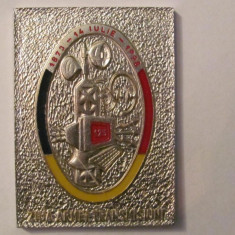"MMM - Placheta Romania ""14 iulie Ziua Armei Transmisiuni 125 ani 1873 - 1998"""