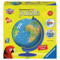 Puzzle Ravensburger 3D Globul Lumii Pentru Copii, 180 Piese