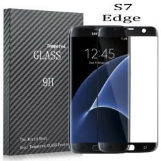 Folie Sticla curbata Gold protectie totala ecran Samsung Galaxy S7 Edge - Folie de protectie