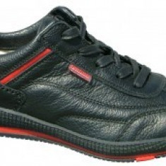Pantofi Barbati -Piele Vitel - RIPON - BIT BONTIMES, Marime: 40, 41, 42, 43, 44, 45, Piele naturala, Negru