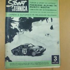 Sport si tehnica 3 / 1971 avion IS - 29 B elice tir automobilism motocros raliu - Revista auto