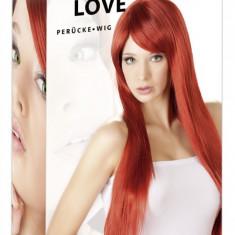 Peruca Roscata Par Lung - Lenjerie sexy femei