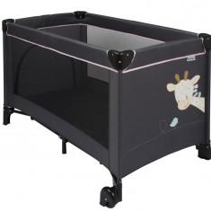 Patut Pliant Cu Un Nivel Charlotte & Rose - Patut pliant bebelusi Nattou, 120x60cm, Negru