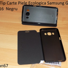 Husa Tip Carte  Samsung Galaxy J5 2016  Negru  calitate si ieftin la pret, Piele Ecologica