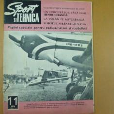 Sport si tehnica 11 / 1970 expozitie aviatie Bucuresti H. Coanda aeromodel raliu