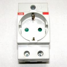 Priza schuko ABB cu montaj sina 35mm(1061) - Priza si intrerupator