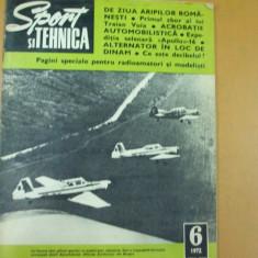 Sport si tehnica 6 / 1972 Traian Vuia aviatie motocros automobil acrobatie - Revista auto