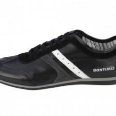 Pantofi Barbati -Piele Vitel - DIAMANT - BIT BONTIMES, Marime: 40, 41, 42, 43, 44, Piele naturala, Negru