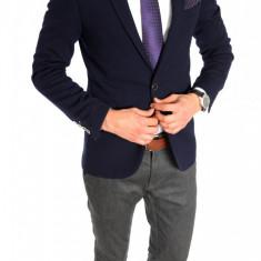 Sacou tip Zara Man bleumarin - sacou barbati - sacou casual elegant- cod 6405, Marime: 46, 48, 52, Culoare: Din imagine