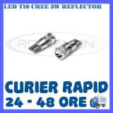 BEC AUTO LED LEDURI POZITIE T10 (W5W) CREE 3W REFLECTOR - POZITII, NUMAR - Led auto ZDM, Universal