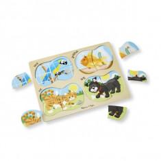 Puzzle Melissa & Doug Lemn 4 In 1 Animale De Companie