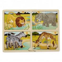 Set 4 Puzzle Melissa & Doug Lemn Safari