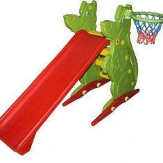 Spatiu De Joaca Cu Tobogan Si Cos De Basket - Tobogan copii