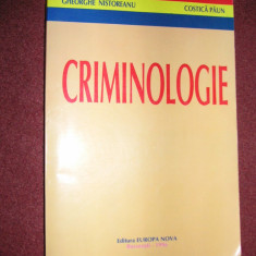 CRIMINOLOGIE - GHEORGHE NISTOREANU, COSTICA PAUN - Carte Criminologie