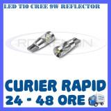 BEC AUTO LED LEDURI POZITIE T10 (W5W) CREE 9W REFLECTOR - POZITII, NUMAR - Led auto ZDM, Universal
