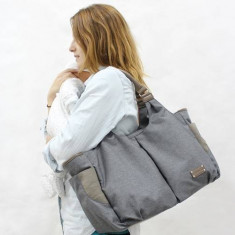 Geanta Multifunctionala Lottie Granit - Geanta plimbare copii