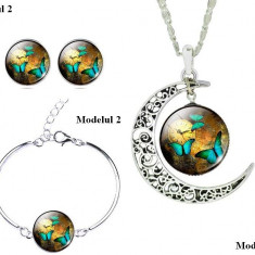 Medalion Set si Cercei Fashion
