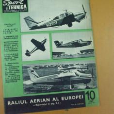 Sport si tehnica 10 / 1969 aripi romanesti raliu aerian Europa Semenic Skoda - Revista auto