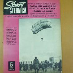 Sport si tehnica 5 / 1970 Dacia 1300 balon Timisoara avion IAR - 822 tir - Revista auto