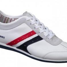 Pantofi Barbati -Piele Vitel - DIAMANT - BIT BONTIMES, Marime: 40, 41, 42, 44, Piele naturala, Alb