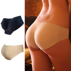 CHILOTI PUSH-UP-NEGRU CREM-ideal pt un posterior bombat si ferm, calitate - Chiloti dama, Marime: M, L