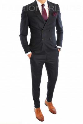 Costum tip ZARA - sacou + pantaloni costum barbati casual office  - 6444 foto