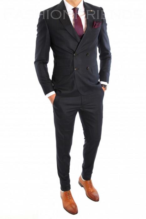 Costum tip ZARA - sacou + pantaloni costum barbati casual office  - 6444 foto mare