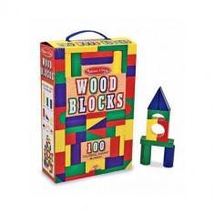 Cuburi din Lemn Colorate 100