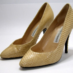 Pantofi dama marca Marcello Giovannetti piele sarpe marimea 35 (P577_1) - Pantof dama, Culoare: Din imagine, Piele naturala