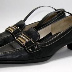 Pantofi dama marca Gritti interior exterior piele marimea 38 (P576_1) - Pantof dama, Culoare: Negru
