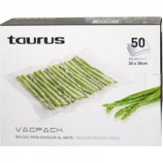 Set de pungi pentru vidat Taurus Vacpak 50 bucati pungi gofrate, 30 x 35cm - Folie si punga alimentara