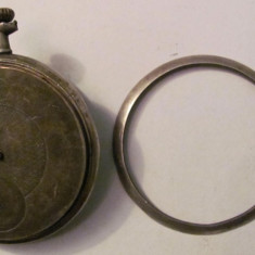 PVM - Ceas de buzunar vechi carcasa argint 800 descompletat vanzare pentru piese