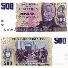 ARGENTINA 500 pesos 1984 UNC!!! - bancnota america