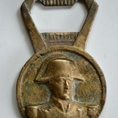 Desfacator vechi din bronz suvenir Paris - Arcul de Triumf - Napoleon