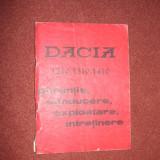 DACIA 1210, 1410, 1300 CARTE garantie, conducere, exploatare