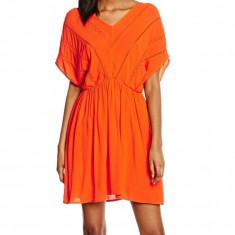Rochie din vascoza Vero Moda - art. 10154023 portocaliu - Rochie de zi Vero Moda, Marime: 38, Culoare: Orange