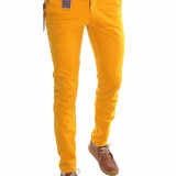 Pantaloni tip ZARA mustar - pantaloni barbati slim fit office - 6436, Marime: 30, 31, 32, 33, Culoare: Din imagine