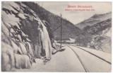 #1728- Romania, Maramures, c.p. circ.1915: Peisaj montan, valea Tisza, sine c.f.