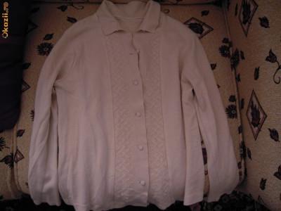 Pulover de dama elegant masura 42, alb foto