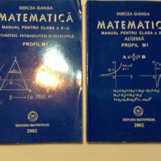 MATEMATICA - MANUAL PENTRU CLASA a X-a - 2 VOLUME PROFIL M1, Mircea Ganga, RF5/1 - Manual scolar mast, Clasa 10, Mathpress