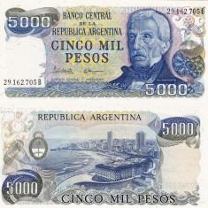 ARGENTINA 5.000 pesos P-305b UNC!!! - bancnota america