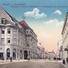 BRASOV, HOTEL KRONE - Carte Postala Transilvania 1904-1918, Necirculata, Printata
