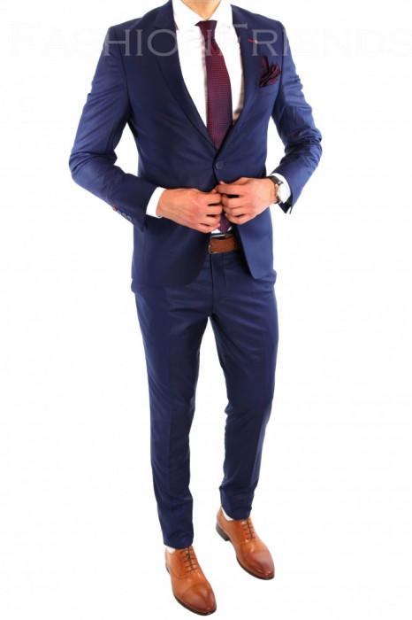 Costum tip ZARA - sacou + pantaloni costum barbati casual office  - 6446 foto mare
