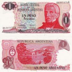 ARGENTINA 1 peso P-311 UNC!!! - bancnota america, An: 1983