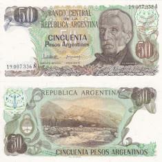 ARGENTINA 50 pesos P-314 UNC!!! - bancnota america