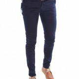 Pantaloni tip ZARA bleumarin - pantaloni barbati slim fit office - 6432, Marime: 31, Culoare: Din imagine